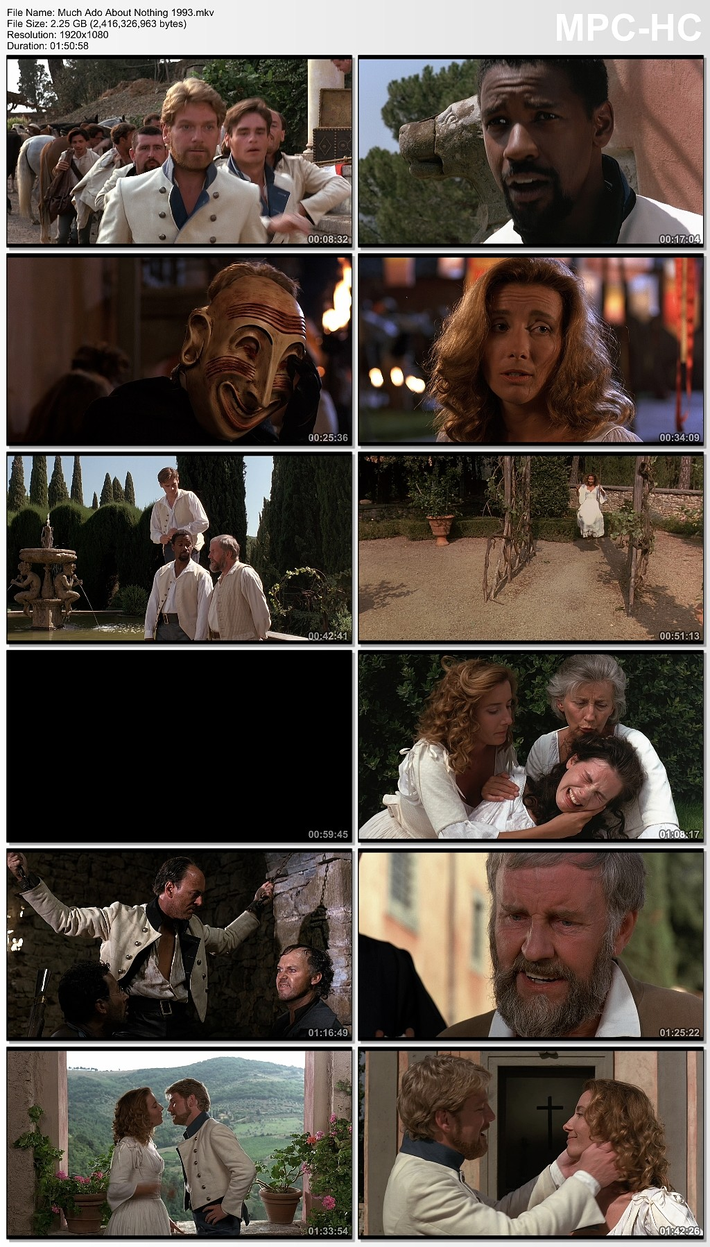 Much Ado About Nothing [1993] [Ingles] [BluRay Rip] [VS]