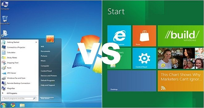 Windows7 vs Windows8