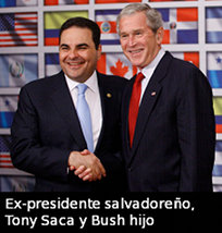 Tony Saca y Bush