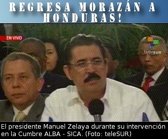 Regresa Presidente Zelaya