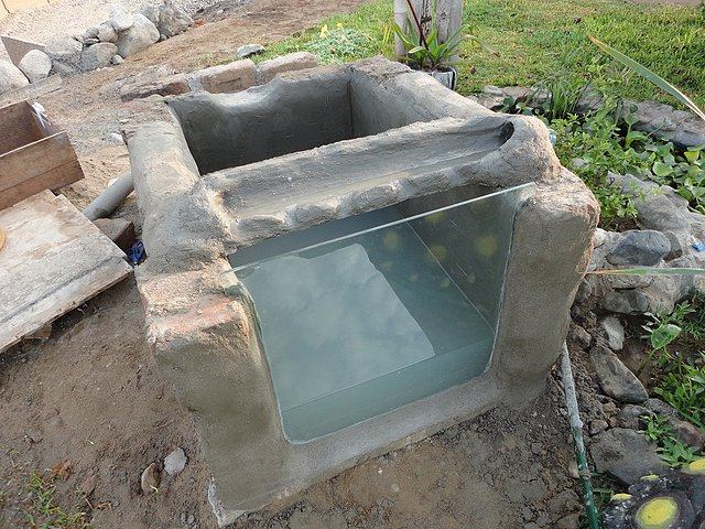 ver tema construccion de un peque o On estanques para peces en cemento