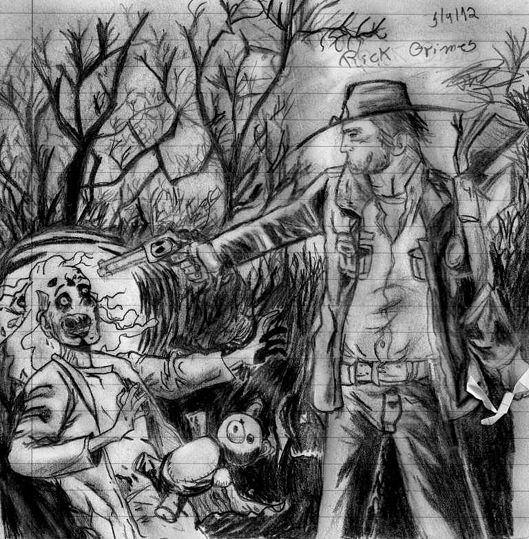 DIbujo de Rick Grimes (the walking dead)