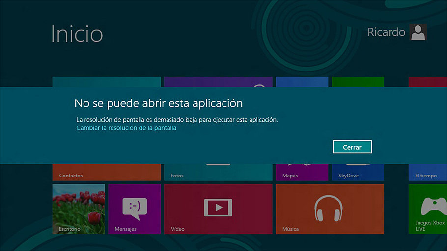 solucionar problema de resolución de pantalla en windows 8