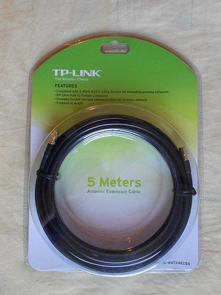 Cancelada Tl Ant2409a Tp Link 9dbi Y Cable 5 Metros Cfd