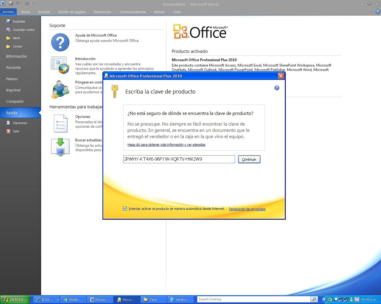 office 2010 professional with crack