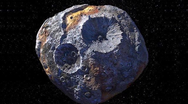 Asteroide dorato Psyche 16 in diretta streaming con Slooh.