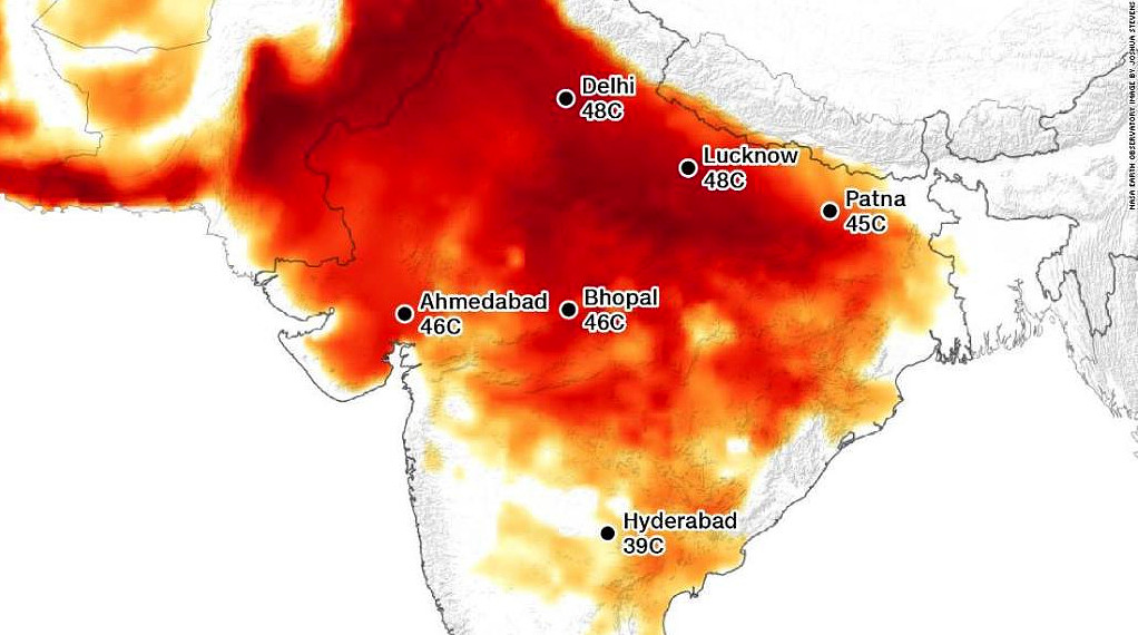India come Kuwait vive incredibile ondata di calore, impossibile viverci.