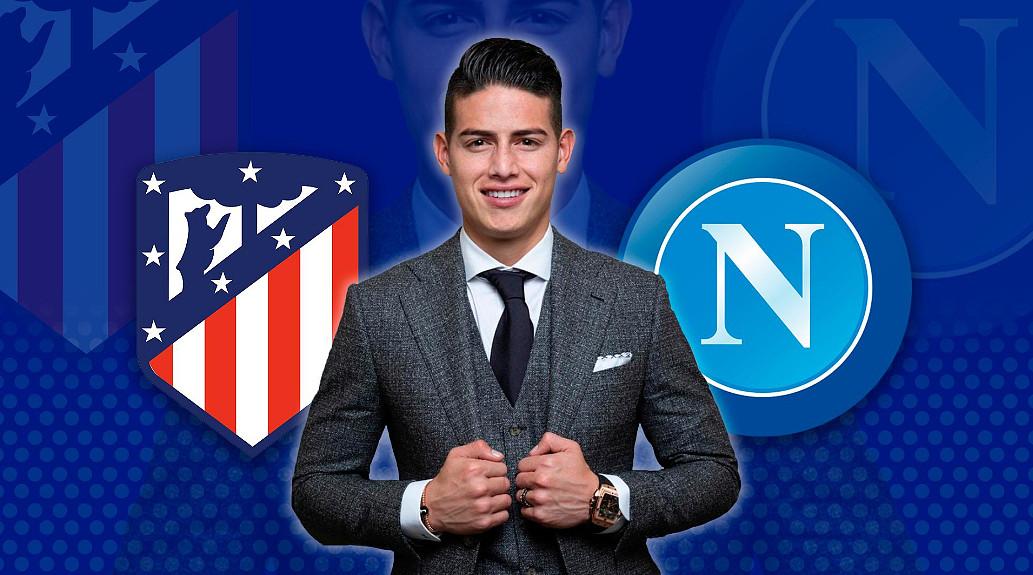 James Rodriguez tentato dall'offerta dell'Atletico Madrid, delusione Napoli