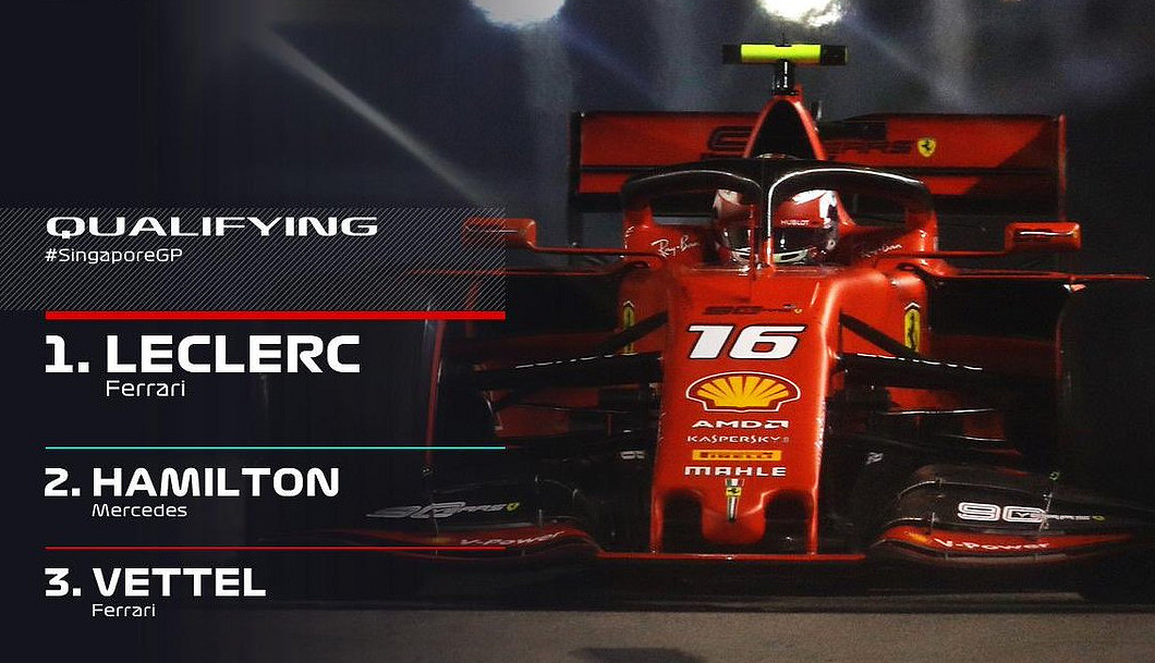 GP Singapore Rojadirecta F1 2019: dove vedere Partenza Gara Ferrari Streaming e Diretta TV.