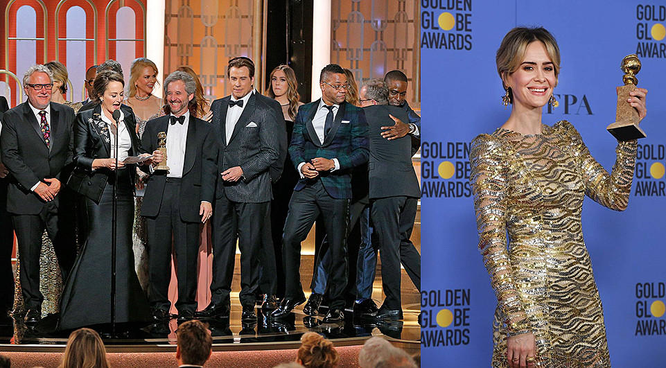 Globos de oro Sarah Paulson mejor miniserie The People vs. Oj simpson