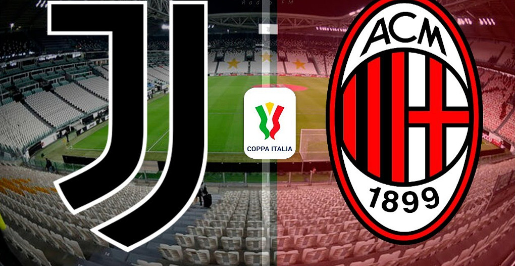 DIRETTA JUVENTUS-MILAN Streaming Gratis Coppa Italia, dove vederla in Video Online