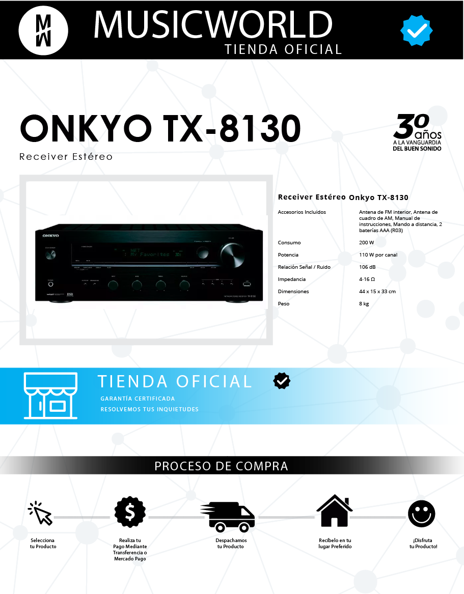 receiver stereo onkyo