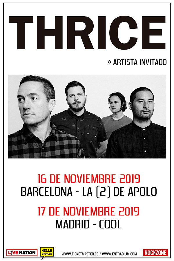 Conciertos Thrice Barcelona y Madrid 2019