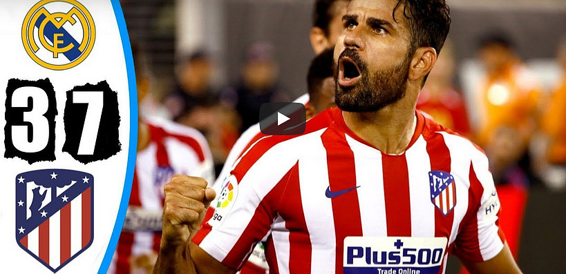 VIDEO ICC: Atletico Madrid a valanga sul Real Madrid di Zidane, 7-3 con poker di Diego Costa.