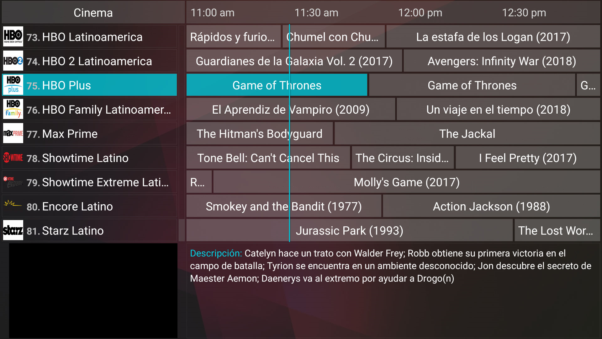 EPG for IPTV66, NFPS & Rocket