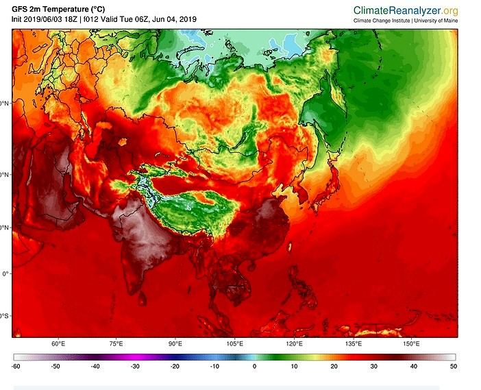 Incredibile ondata di calore in India, temperature oltre 50 gradi.