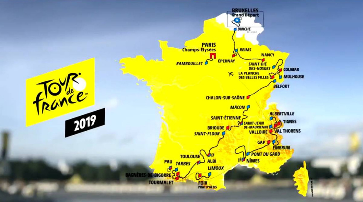 TOUR DE FRANCE 2019 Streaming Rojadirecta Tappa 1: partenza Bruxelles da vedere in Diretta Rai | CICLISMO.